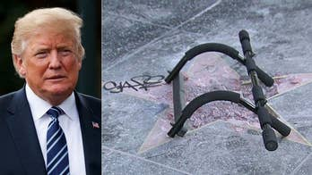Los Angeles police say the suspect who allegedly vandalized President Trump's star on the Hollywood Walk of Fame has been taken into custody, but this isn't the first time his star has been destroyed.