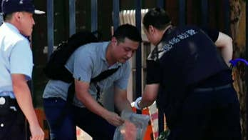 26-year-old suspect injured his hand when the homemade firework device exploded; Kitty Logan reports from London.
