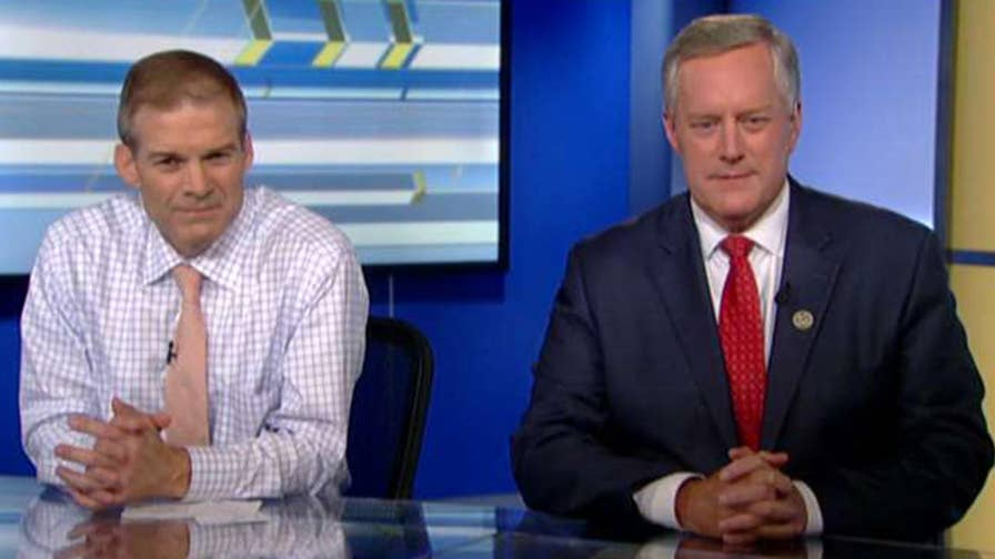 Reps. Mark Meadows and Jim Jordan speak out on 'The Ingraham Angle' after introducing articles of impeachment against Deputy Attorney General Rod Rosenstein.