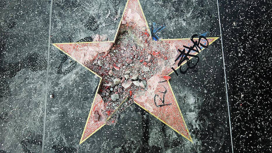 Trump's Hollywood Walk of Fame smashed to pieces