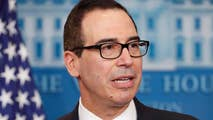 Treasury Secretary Mnuchin talks US GDP growth sustainability.