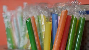 California businesses face penalties if they give out plastic straws; radio host Mike Slater weighs in on 'Fox & Friends.'