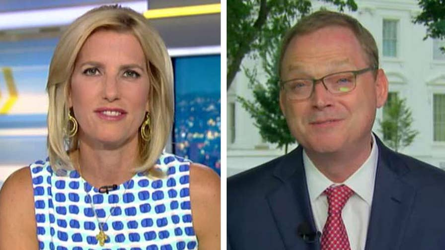 Kevin Hassett, head of the White House Council of Economic Advisers, shares insight on 'The Ingraham Angle' after 4.1 percent GDP growth.