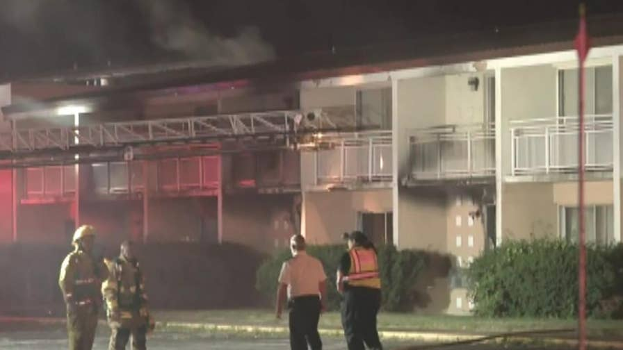 Five children, adult dead in massive motel fire.
