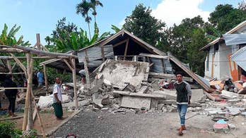 At least 14 killed and over 160 injured after in Indonesia earthquake.