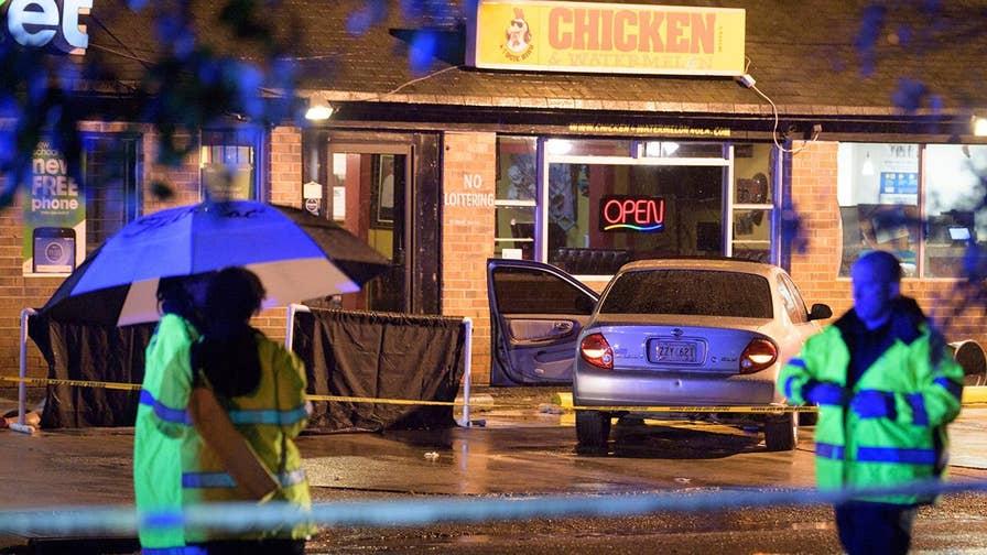 Manhunt underway for two suspects.