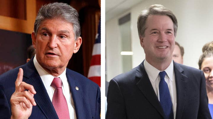 Manchin breaks from leadership, meets with Kavanaugh