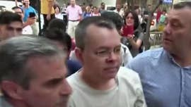 "The American pastor jailed in Turkey on espionage and terrorism-related charges was praised by President Trump on Thursday who called him ""a great patriot hostage"" -- and said the U.S. would ""pay nothing for the release of an innocent man."""