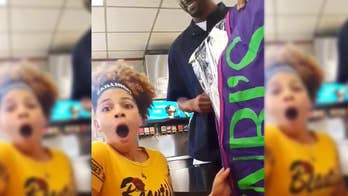 The father of 14-year-old Nevaeha Smith said he couldn't afford the dress she wanted for her 8th grade formal. But the tenacious dad from Pennsylvania worked multiple jobs and saved up enough money to surprise his daughter in an emotional video filmed by her mother.