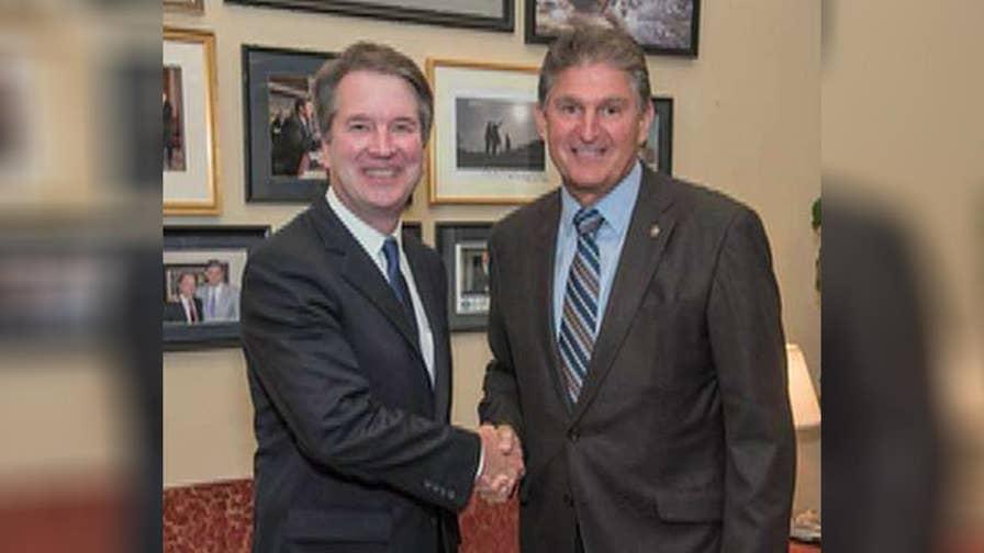 Sen. Joe Manchin is the first Democrat to meet with SCOTUS nominee Brett Kavanaugh.
