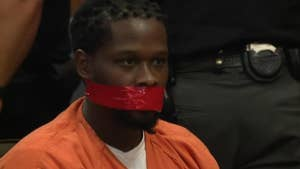 Cuyahoga County judge orders deputies to cover convicted robber's mouth shut during sentencing because of multiple outbursts.