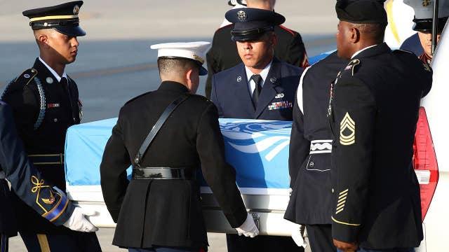 Fallen American war heroes come home from North Korea