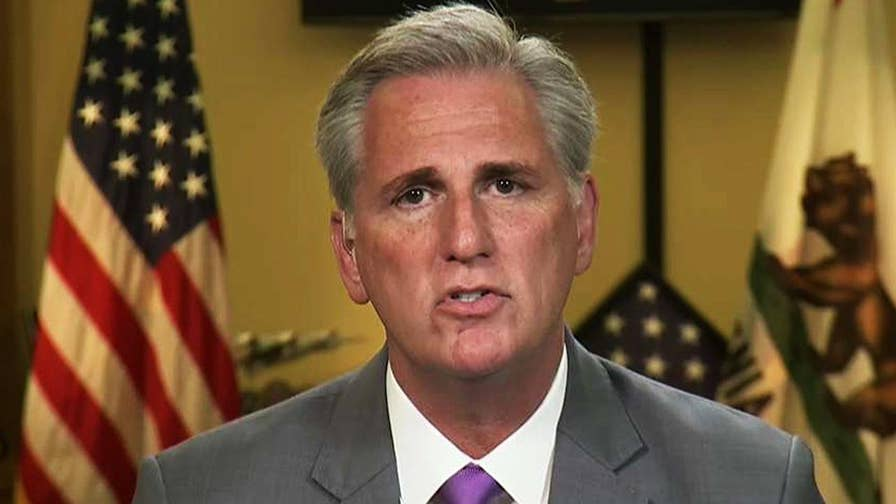 McCarthy calls on Twitter to ban House candidate for offensive tweet about Melania Trump. House Majority Leader sounds off on 'The Ingraham Angle.'