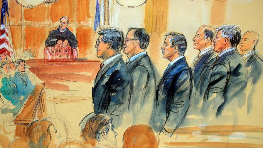 Prosecution banned from using term 'oligarch'; Peter Doocy reports on what's happening inside the courtroom.