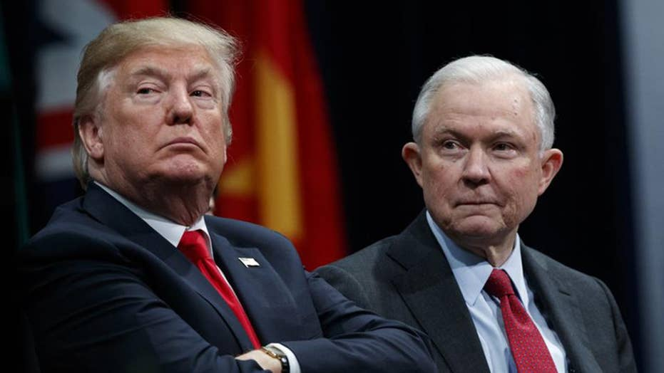 Trump calls on Sessions to stop 'rigged' Mueller probe