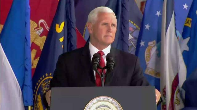 Pence at honorable carry ceremony: Our boys are coming home