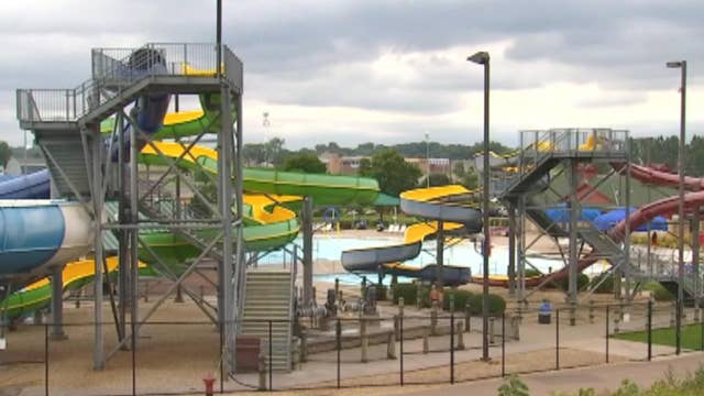 8-year-old falls two stories off water slide