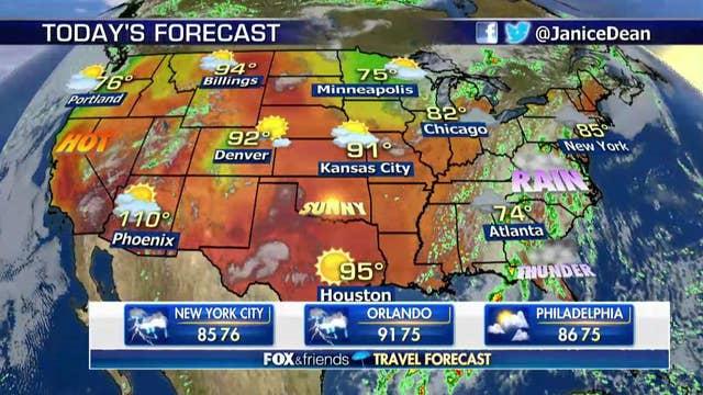 National forecast for Thursday, August 2