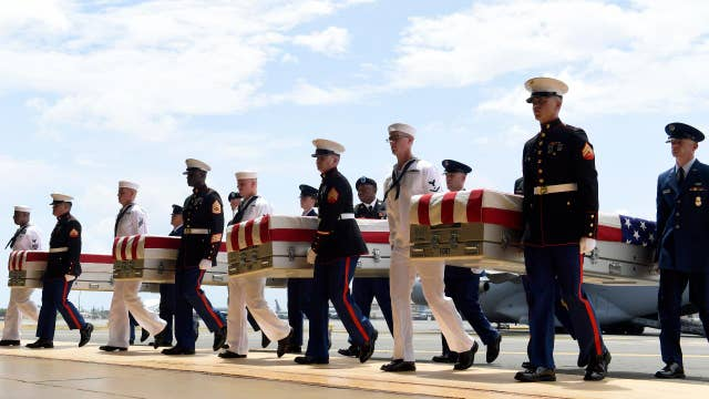 Lack of coverage from CNN, MSNBC for return of US remains