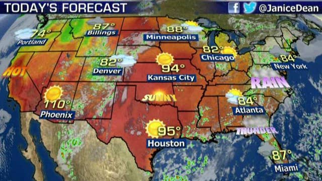 National forecast for Friday, August 3