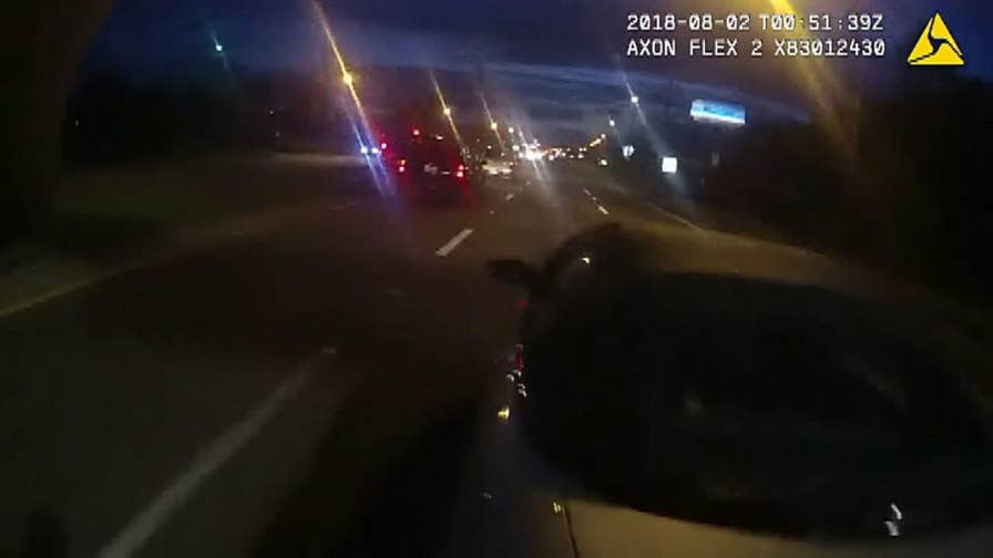Driver of disabled vehicle gets unexpected roadway help.