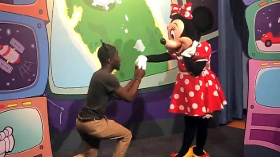 Minnie Mouse accepts man's marriage proposal