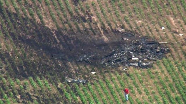 Raw video shows site of small passenger plane crash