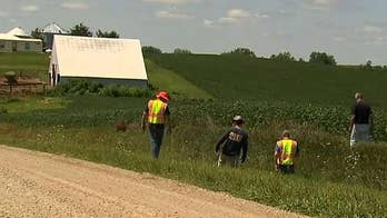Farmer insists he has nothing to do with the 20-year-old student's disappearance; Matt Finn reports from Brooklyn, Iowa.