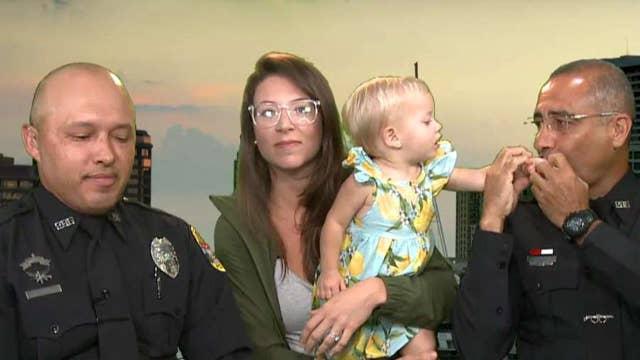 Florida officers save choking baby at mall