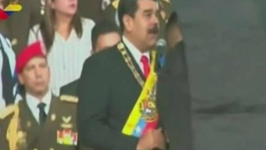 Venezuela's president dodges apparent assassination attempt during a speech broadcast on live television; Steve Harrigan reports.