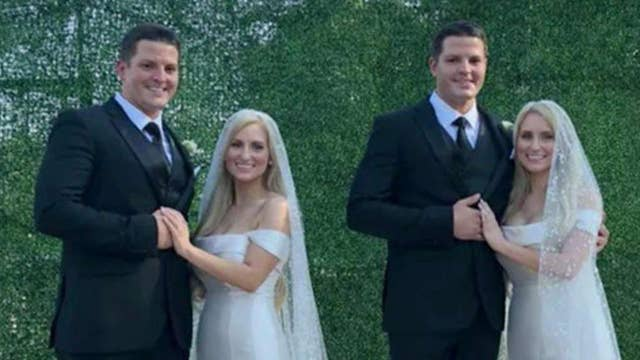 Identical twin sisters marry identical twin brothers