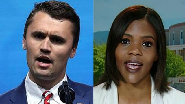 Antifa protesters accost Charlie Kirk and Candace Owens