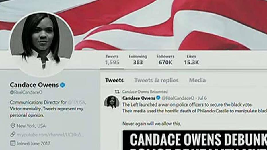 Twitter sorry for banning Candace Owens