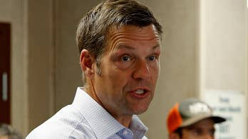 President backs Kobach's challenge to incumbent Republican Gov. Jeff Colyer; Dan Springer reports from Topeka.