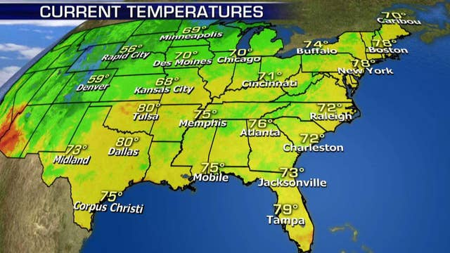 National forecast for Tuesday, August 7