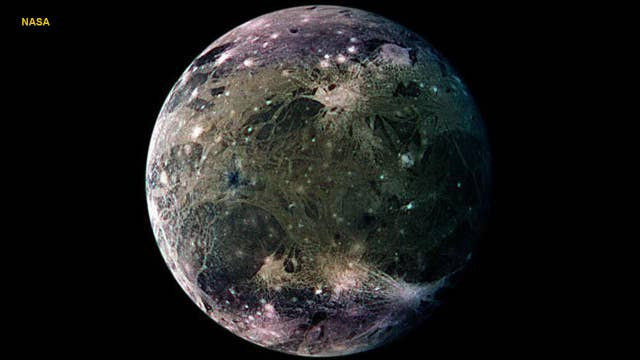 Intense electromagnetic waves coming from Jupiter's moon Ganymede