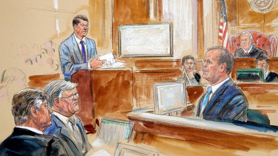 Star witness in the federal case against ex-Trump campaign adviser Paul Manafort faces cross-examination; Peter Doocy reports from Alexandria, Virginia.