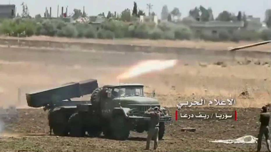 Syrian forces launch strikes against ISIS