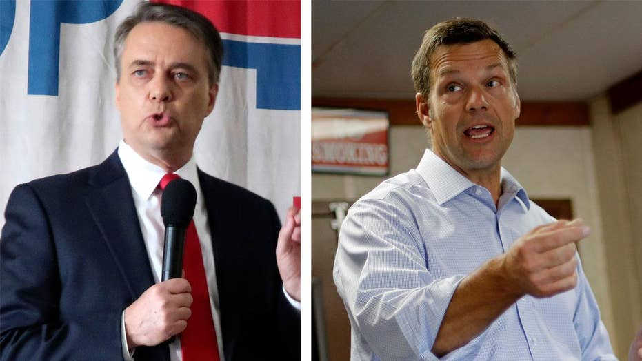 Republicans Kobach and Colyer go head-to-head in Kansas