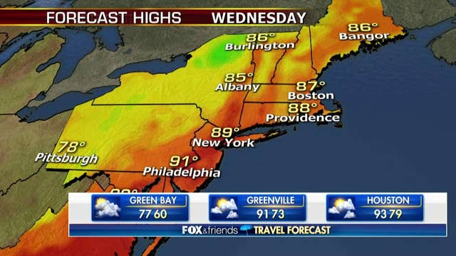 National forecast for Wednesday, August 8