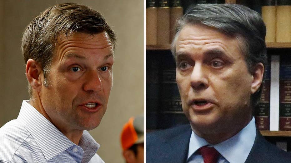 Votes still being counted in Kansas GOP governor primary