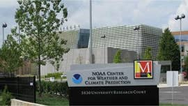 A strange Chinese audio message was heard over the intercom at the National Weather Service center on Wednesday.