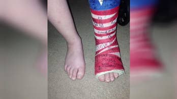10-year-old's show of patriotism at a Tennessee fair goes viral.