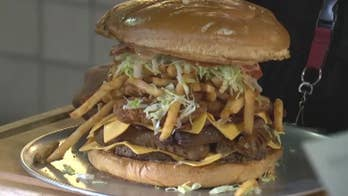 Competitors must finish the burger within an hour.