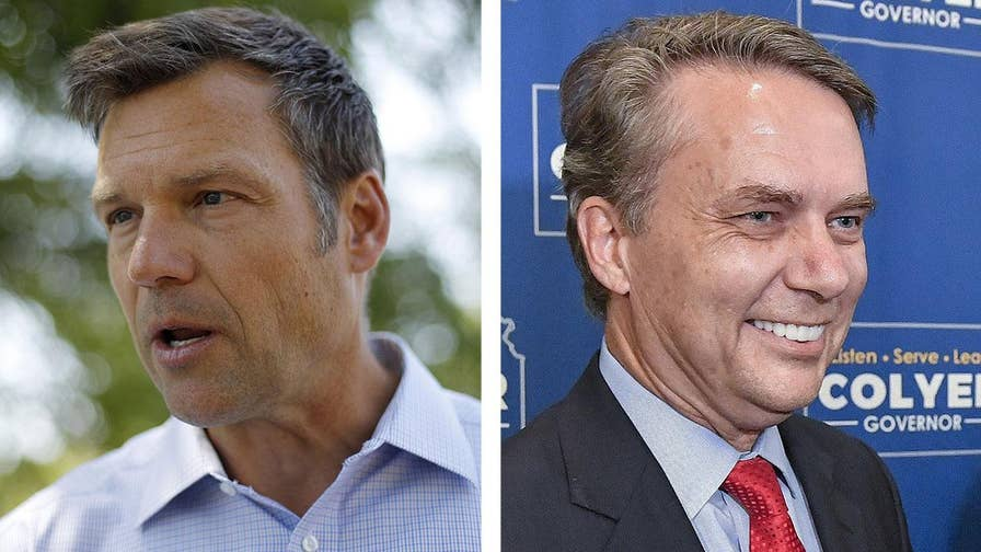 Officials acknowledge vote-tallying error in the Republican gubernatorial primary in Kansas.