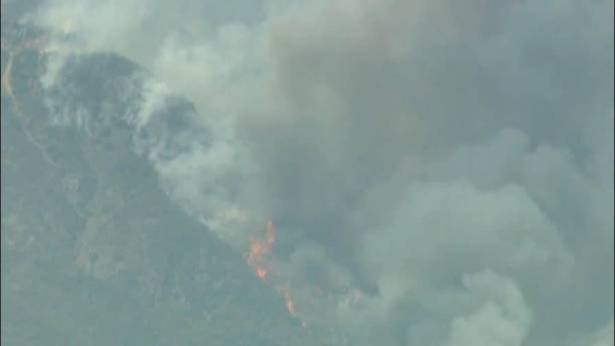 The Holy Fire in Southern California has burned more than nine-thousand acres.