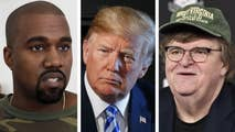 Kanye West defends his support of the president; Michael Moore to debut new anti-Trump documentary.