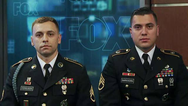 Army recruiters save flag that fell in storm