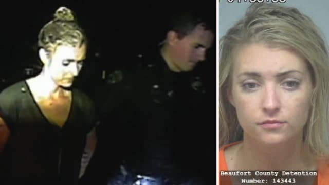 'Thoroughbred, white girl' begs officer not to arrest her