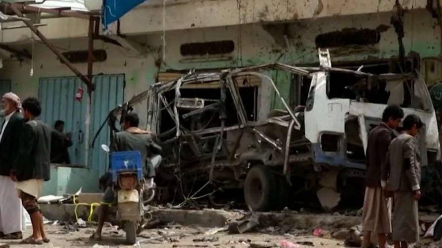 Saudi-led coalition airstrike hits bus carrying several children; Greg Palkot reports on the latest in the deadly civil war.